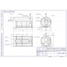 Баня-бочка из кедра овальная, длина 4*4 м , высота 2,1-2,3 м, толщина стенки 45 мм