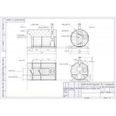Баня-бочка из кедра круглая, длина 3 м , диаметр 2,1 м, толщина стенки 45 мм