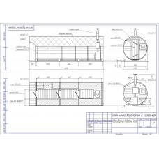 Баня-бочка из кедра круглая, длина 6 м , диаметр 2,1 м, толщина стенки 45 мм