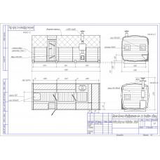 Баня-бочка из кедра квадратная+ боковой вход, длина 6 м , диаметр 2,3 м, толщина стенки 45 мм