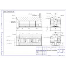 Баня-бочка из кедра квадратная, длина 5 м , диаметр 2,1 м, толщина стенки 45 мм