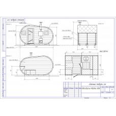 Баня-бочка из кедра овальная, длина 4 м , высота 2,1-2,3 м, толщина стенки 45 мм
