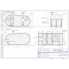Баня-бочка из кедра овальная, длина 5 м , высота 2,1-2,3 м, толщина стенки 45 мм