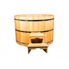 Купель круглая из кедра диаметр:180 см, высота:100 см, толщина стенки:4 см