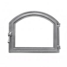 Дверца каминная Везувий 217 (414х495) НЕ КРАШЕННАЯ под стекло