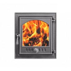 Купить Дверца каминная Везувий 210 (400х370) со стеклом (Антрацит)
