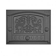 "Дверца каминная ДК-2Б (435х332х92) 375х300х40, краш. RLK 325 ""Грифоны"" (Рубцовск)"