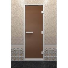 """Дверь стеклянная """"ХАМАМ БРОНЗА МАТОВАЯ"""""""