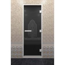 """Дверь стеклянная """"ХАМАМ ЧЕРНЫЙ ЖЕМЧУГ"""""""