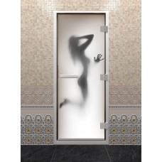 """Дверь стеклянная """"ХАМАМ ФОТОПЕЧАТЬ"""""""