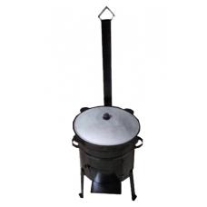 Печь для казана с дверцей и трубой 10 литров