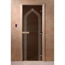 """Дверь стеклянная Дверь """"Арка Черный жемчуг"""""""