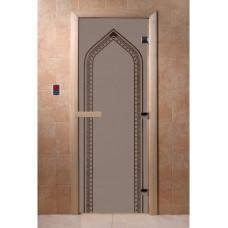 """Дверь стеклянная Дверь """"Арка Черный жемчуг матовая"""""""