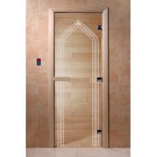 """Дверь стеклянная Дверь """"Арка прозрачная"""""""