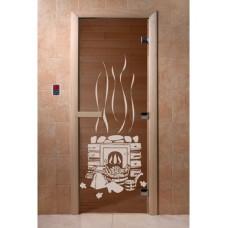 """Дверь стеклянная Дверь """"Банька бронза"""""""