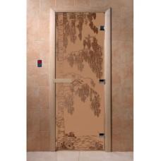 """Дверь стеклянная Дверь """"Береза бронза матовая"""""""