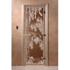 """Дверь стеклянная Дверь """"Береза бронза"""""""
