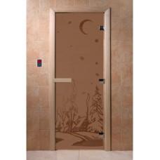 Купить Дверь стеклянная Дверь Зима бронза матовая в Белгороде
