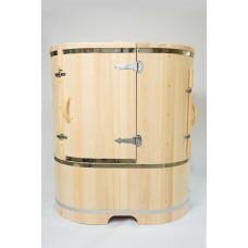 """Купить Кедровая бочка """"NEO""""со скошеной крышкой (со встроенным парогенератором) 130*78*115*2,5 см"""