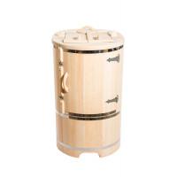 Кедровая бочка овальная со скошенной крышкой 130*78*100*2,5 см