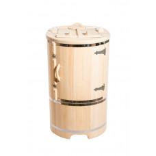 Купить Кедровая бочка овальная со скошенной крышкой 130*78*100*2,5 см