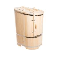 Кедровая бочка овальная со скошенной крышкой 130*78*100*4 см