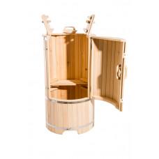 Купить Кедровая бочка круглая 130*78 см толщина 40 мм