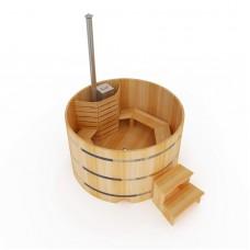 Фурако круглая из кедра d150 см, h120см, 4 см, внутренняя печь