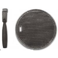 Сковорода чугунная круглая с ручкой