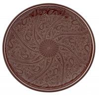 Ляган ручной росписи коричневый 42 см
