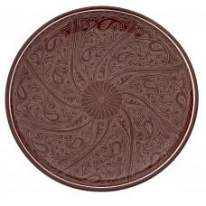 Ляган ручной росписи коричневый 32 см