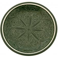 Ляган ручной росписи зеленый 32 см