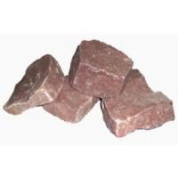 Камень для бани Малиновый кварцит Обвалованный 20 кг (коробка)